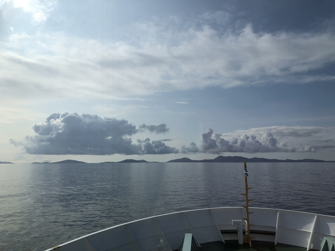 First Glimpse of Barra from the Oban Ferry