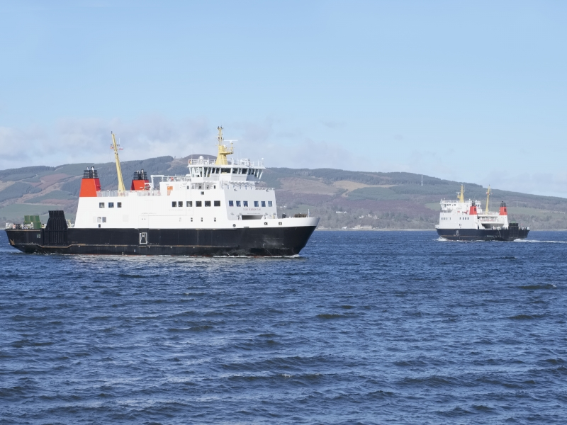 Calmac Ferry connects the Isle of Arran to the mainland