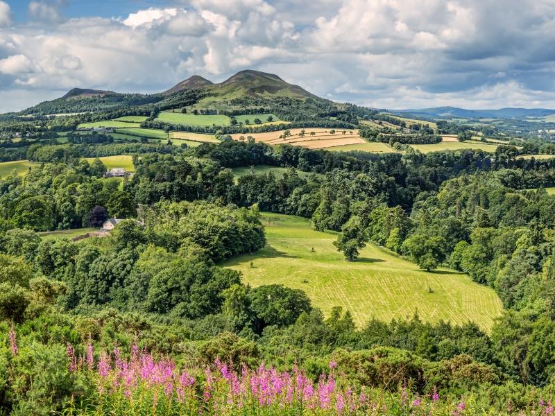 The Eildons in the Scottish Borders