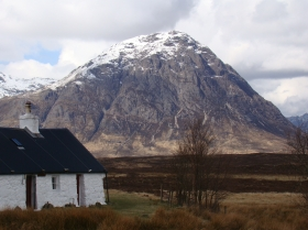 Blackrock cottage and the Buchaille Etive Mhor
