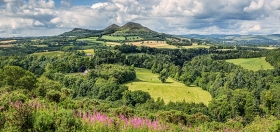The Eildons from Scott's Viewpoint