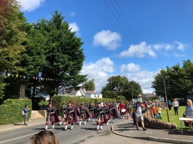 Pipe band at the Brodick Highland Games